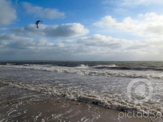 Kitesurfing, Kitsurf, Viken, Kite, Vågor, Strand, Strandkant, Gäss